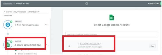 Connect Google Sheet