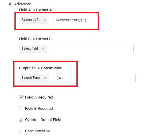 Output Constructor - Google Analytics